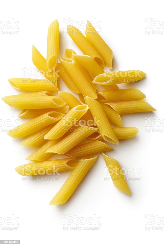 Italian Ingredients: Penne stock photo