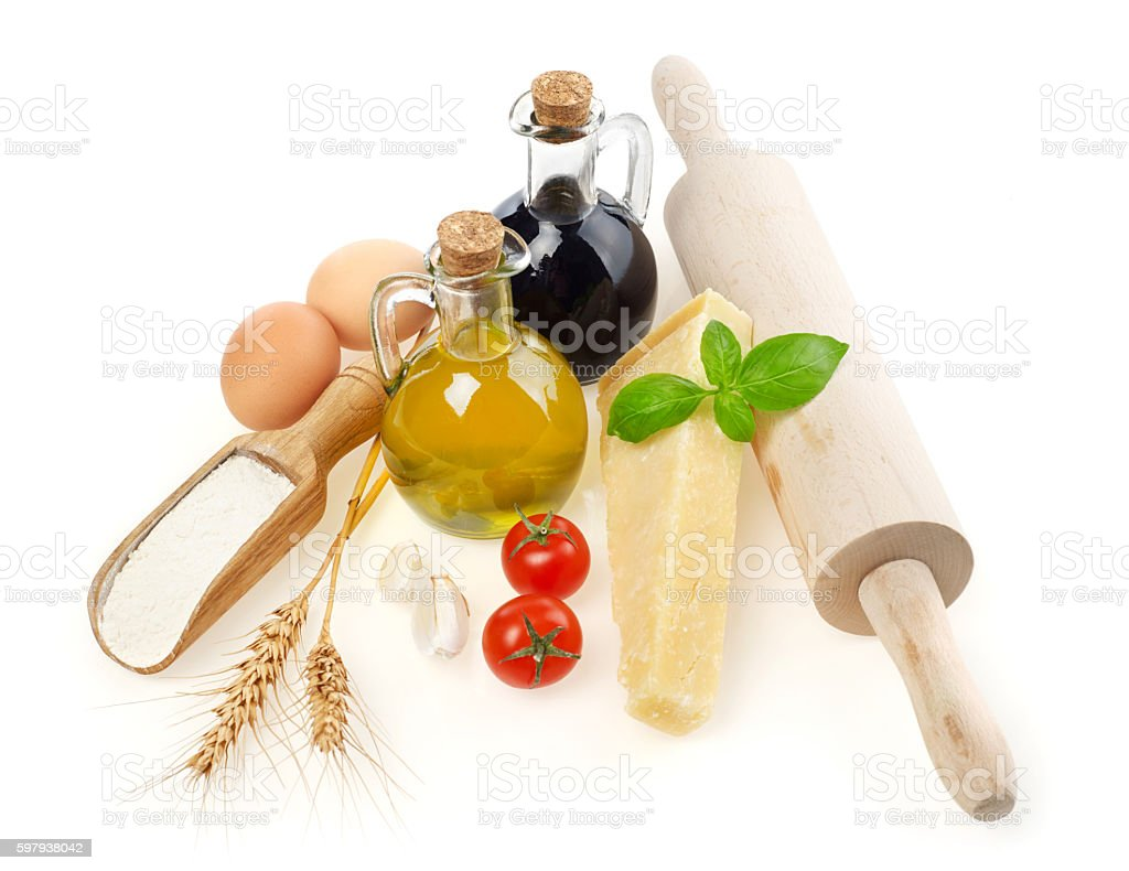 Ingredientes italianos foto royalty-free