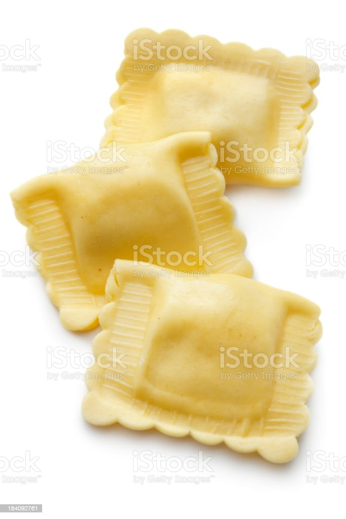 Italian Ingredients: Ravioli stock photo
