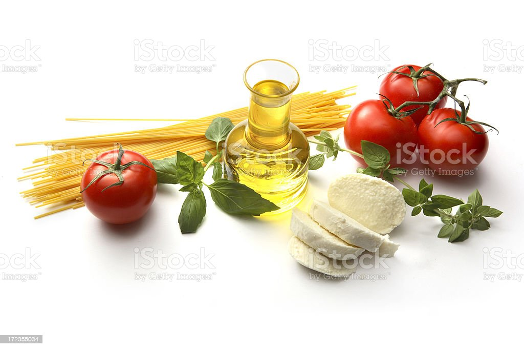 Italian Ingredients: Spaghetti Napolitana royalty-free stock photo