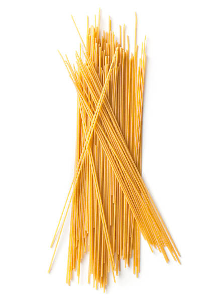 Italian Ingredients: Spaghetti More Photos like this here... uncooked pasta stock pictures, royalty-free photos & images
