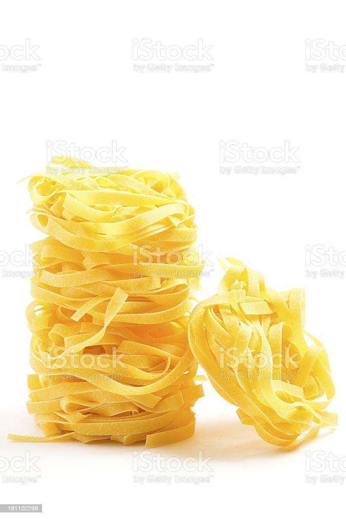 Italian Ingredients: Tagliatelle royalty-free stock photo