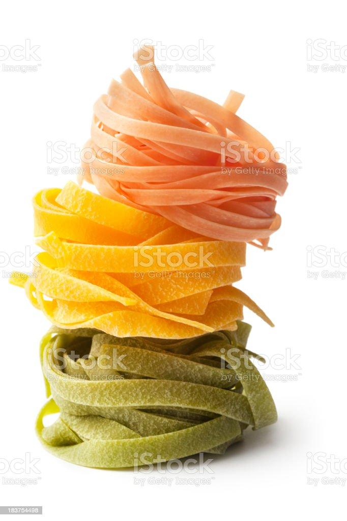 Italian Ingredients: Tagliatelle Tricolori stock photo