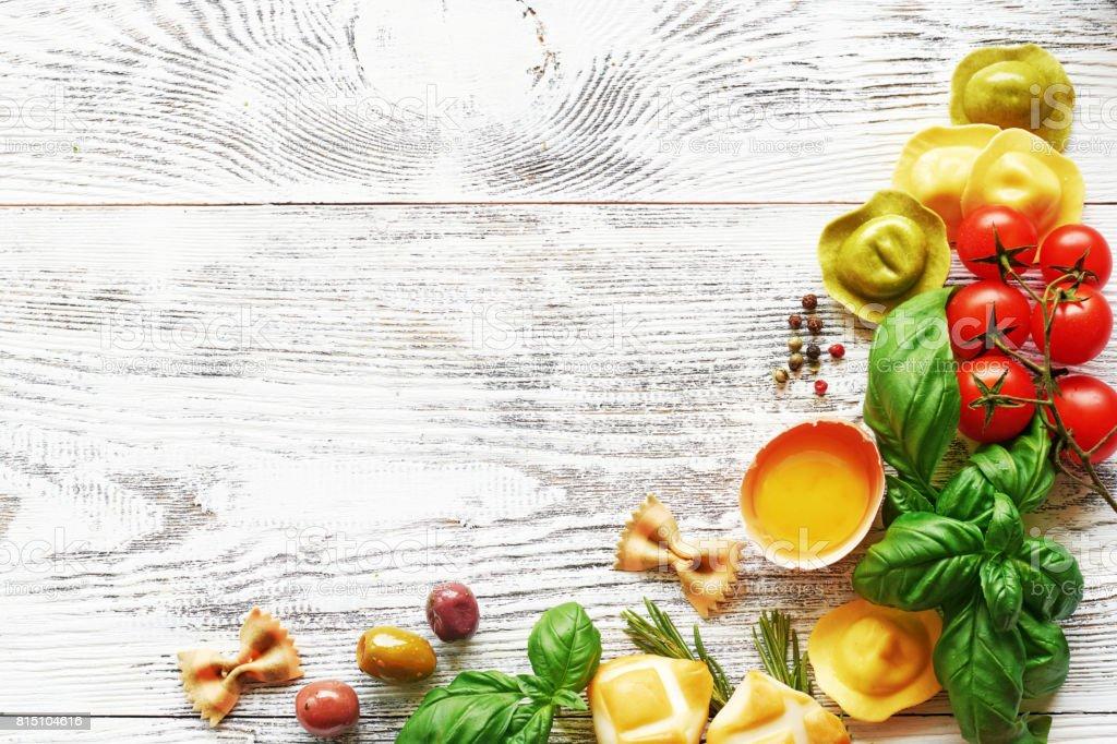 Hintergrund der italienischen Küche. – Foto
