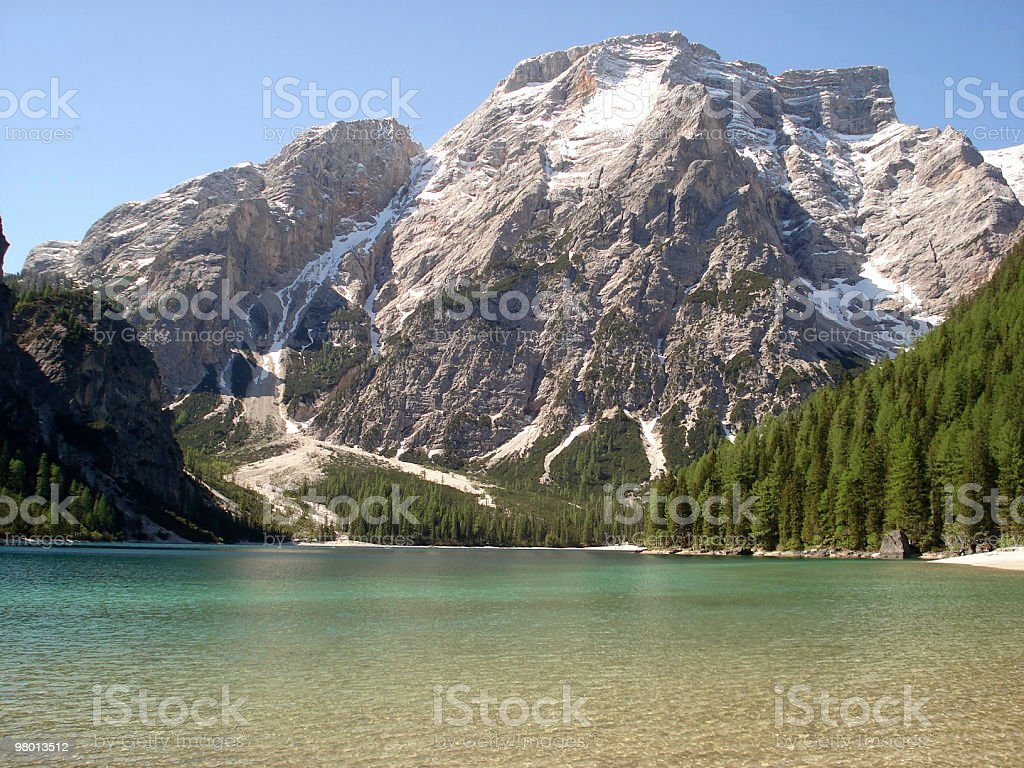 Italian lake and Dolomites royalty-free stock photo
