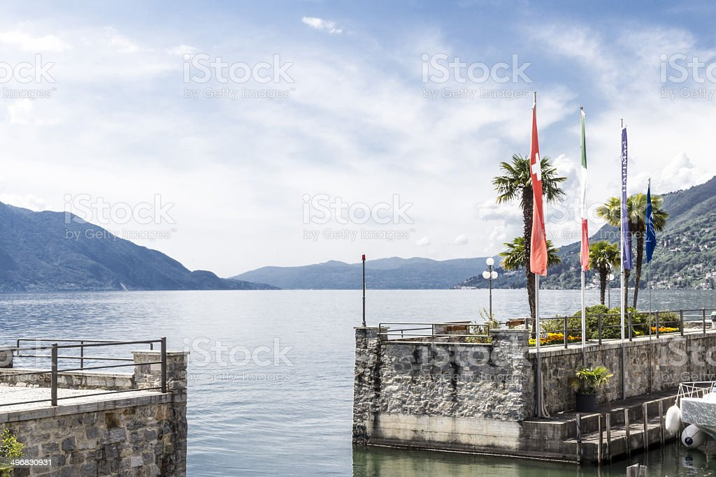Italian Lake - Harbour royalty-free stock photo