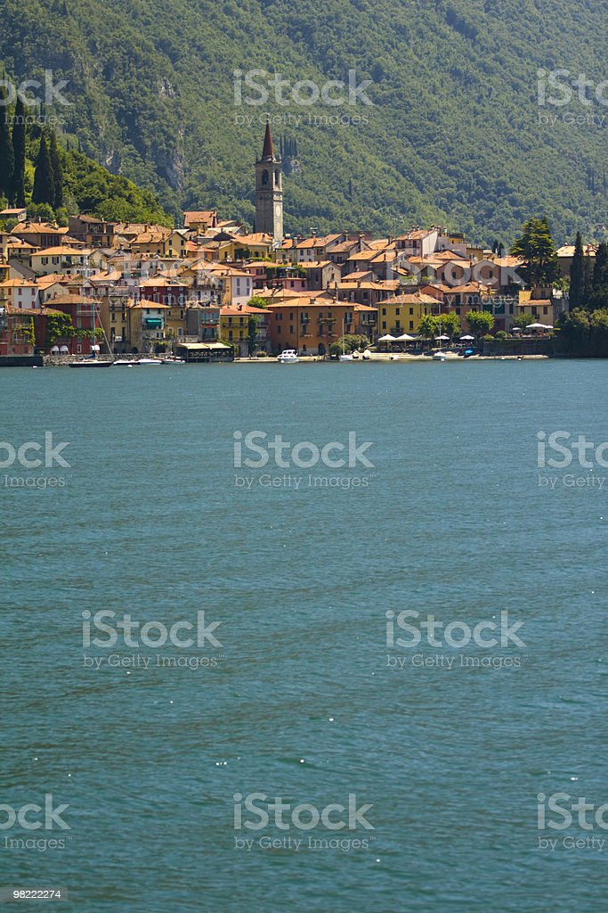 Italian Lake Town royalty-free stock photo