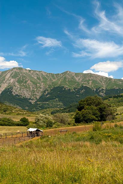 Italian landscape at summer between Lazio and Abruzzi stock photo