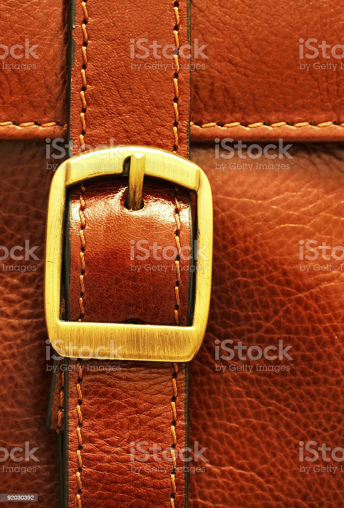 italian leather briefcase buckle royalty-free stock photo
