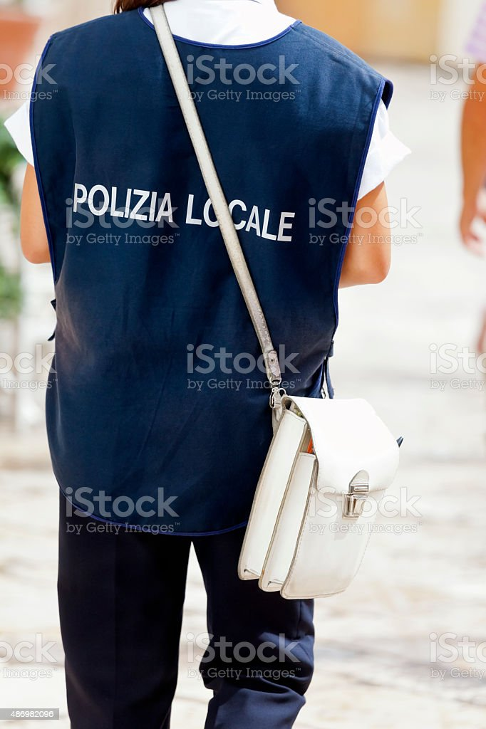 Italian Local Police stock photo