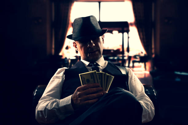 Italian mafia gangster stock photo