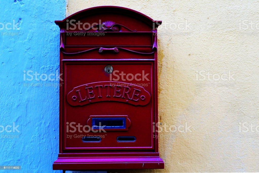 Italian mail box stock photo
