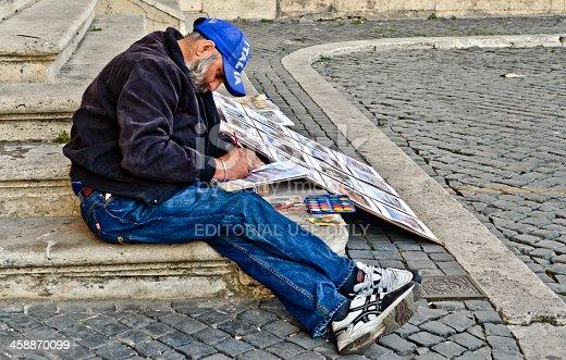 585509074 istock photo Italian man drawing 458870099
