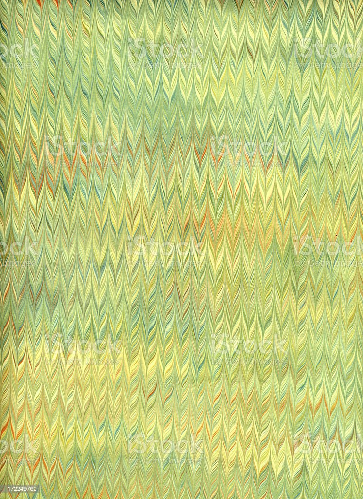 Italian Marbled Paper - green royalty-free stock photo