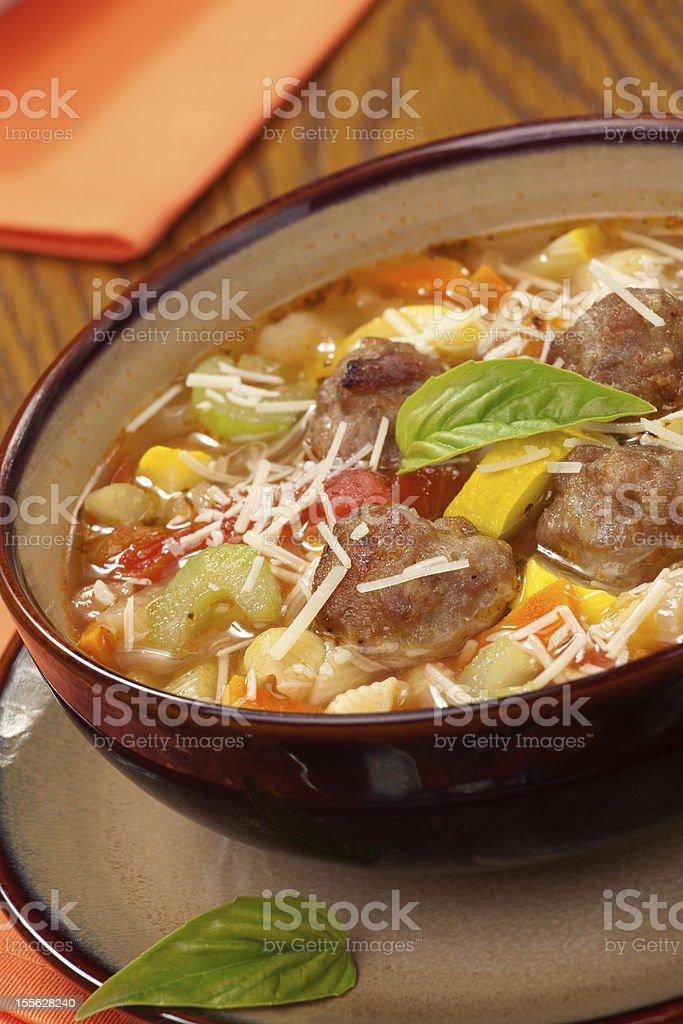 Italian Meatball Soup royalty-free stock photo