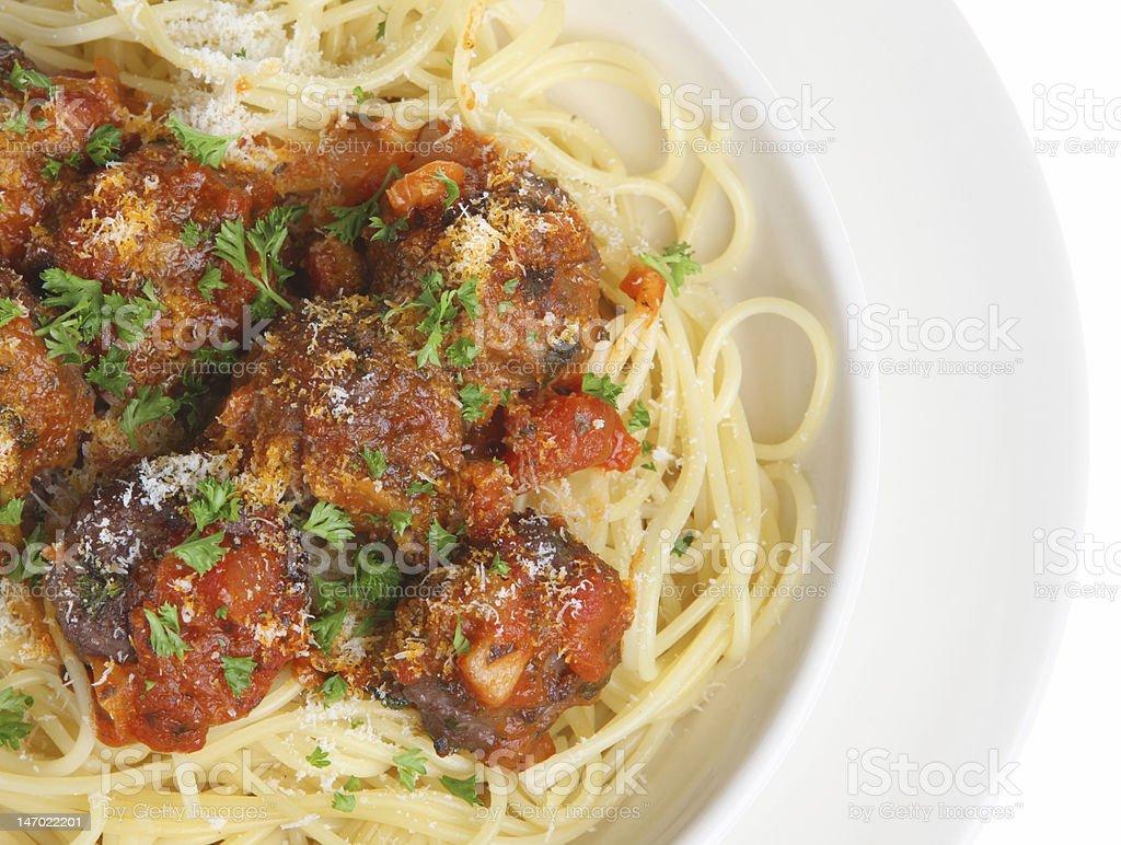 Italian Meatballs and Spaghetti royalty-free stock photo
