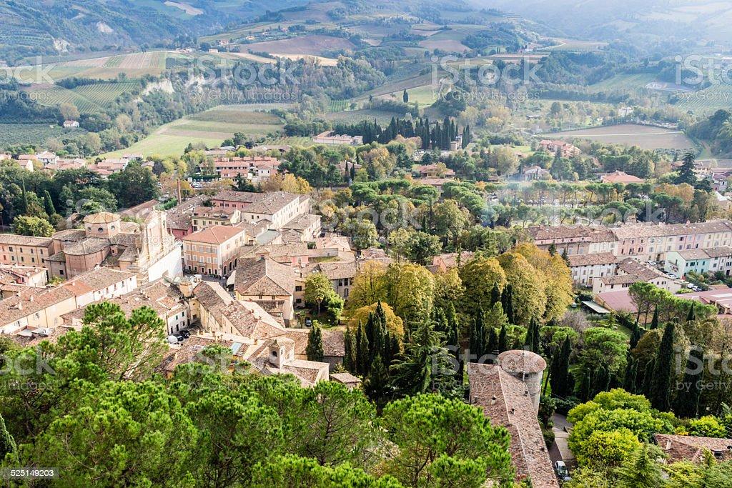 Italian medieval country village stock photo