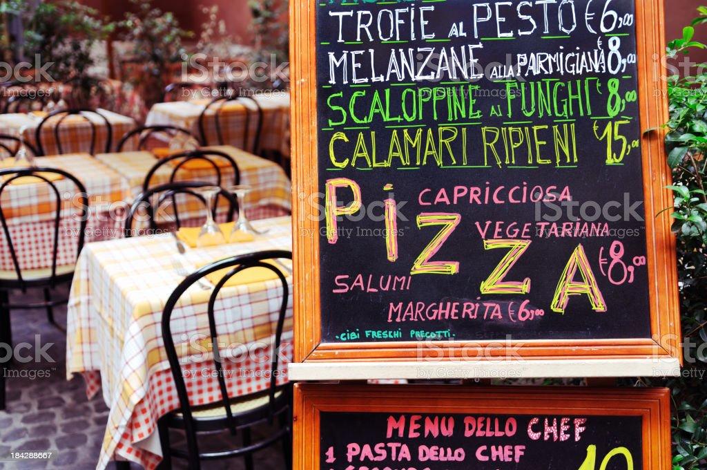 Italian menu stock photo