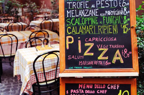 italienische menü - italienische speisekarte stock-fotos und bilder