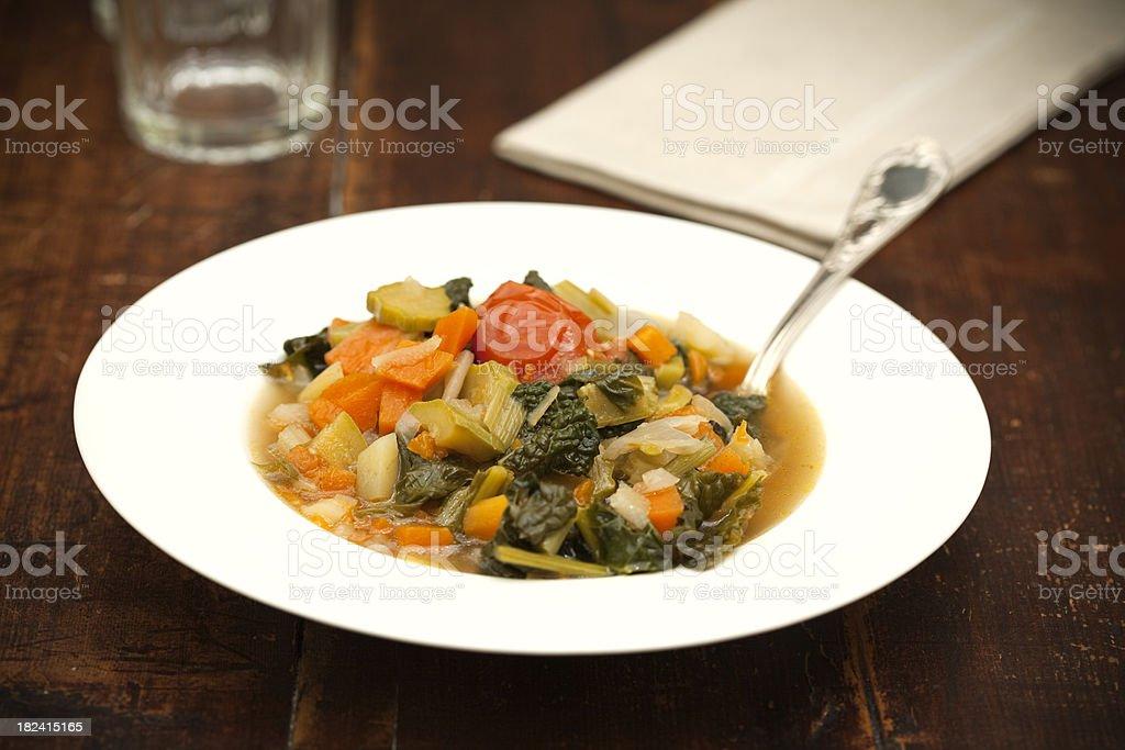 italian minestrone royalty-free stock photo