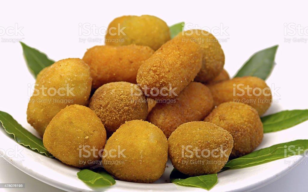 Italian mixed fried stock photo