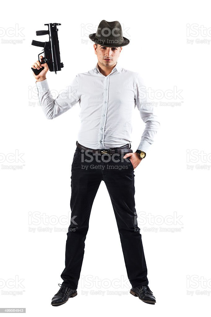 Italian mobster stock photo