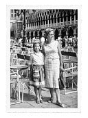 Italian mother and daughter in Venice in 1958