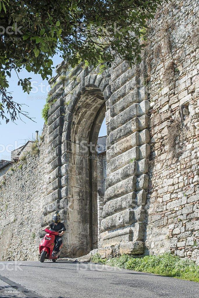 Italian motor scooter royalty-free stock photo
