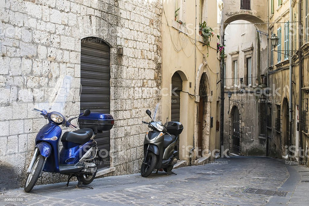 Italian motor scooter royalty-free stock photo