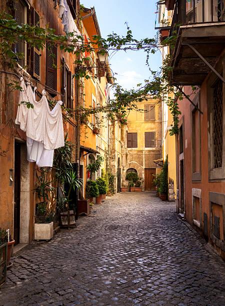 Italienische Altstadt (Trastevere in Rom). – Foto