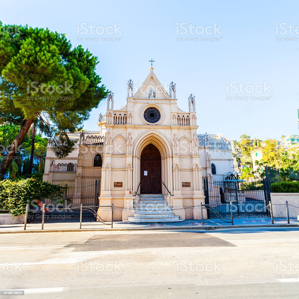 Italian Orthodox Icon of the Mother Temple. stock photo