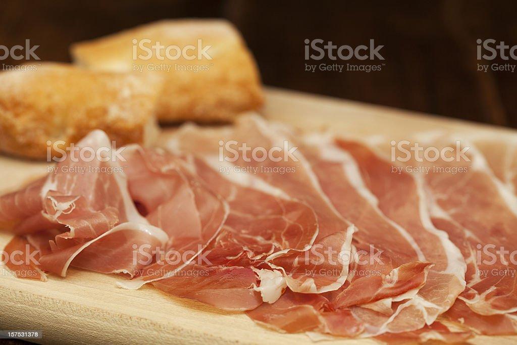 italian Parma ham royalty-free stock photo