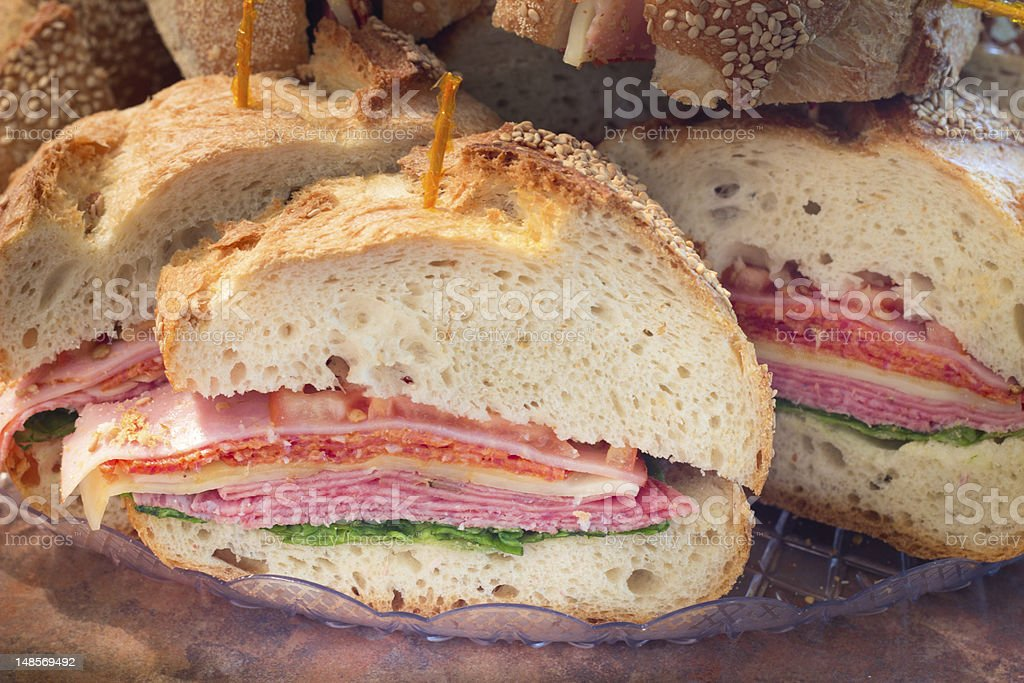 Italian Party Sandwich stock photo