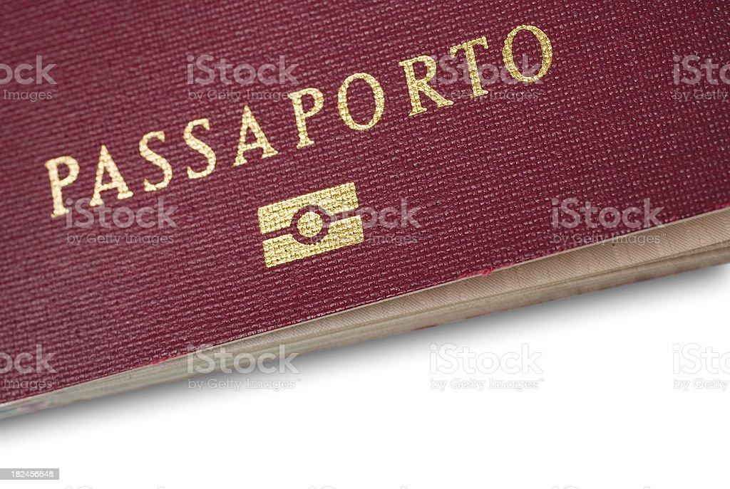 Italian Passport Close-up royalty-free stock photo