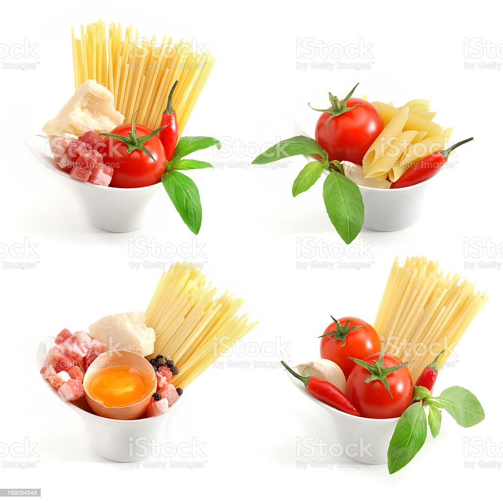 Italian pasta collection royalty-free stock photo