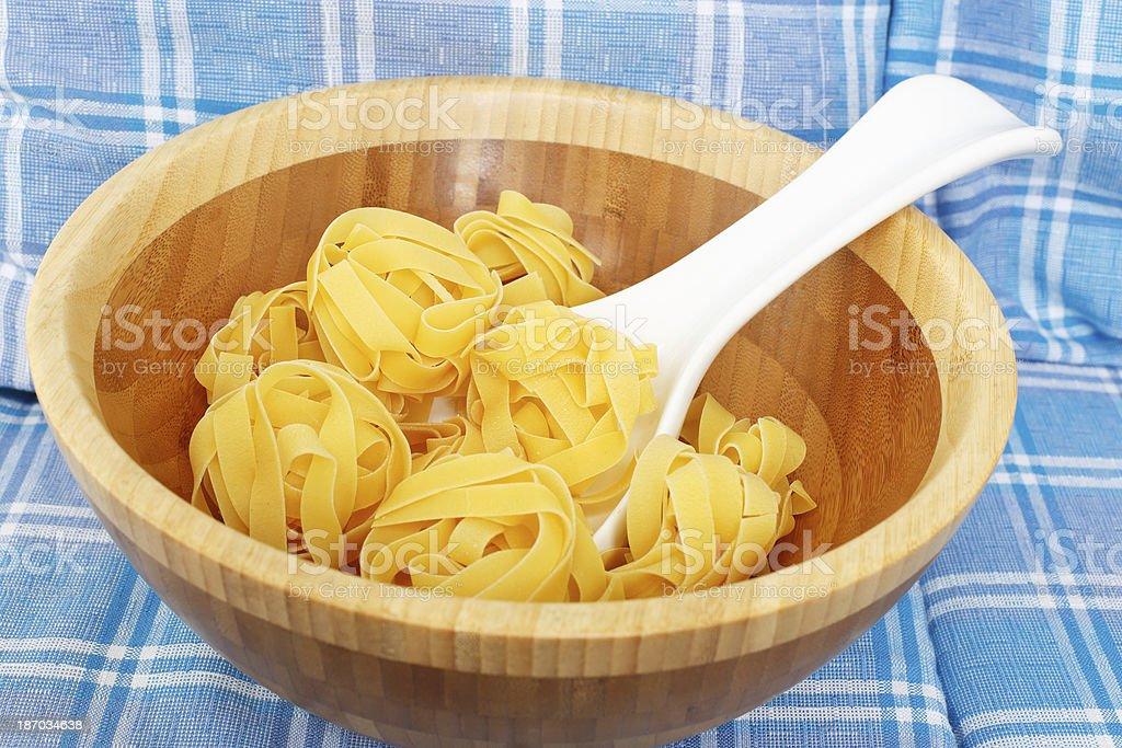 Italian pasta in a bowl royalty-free stock photo