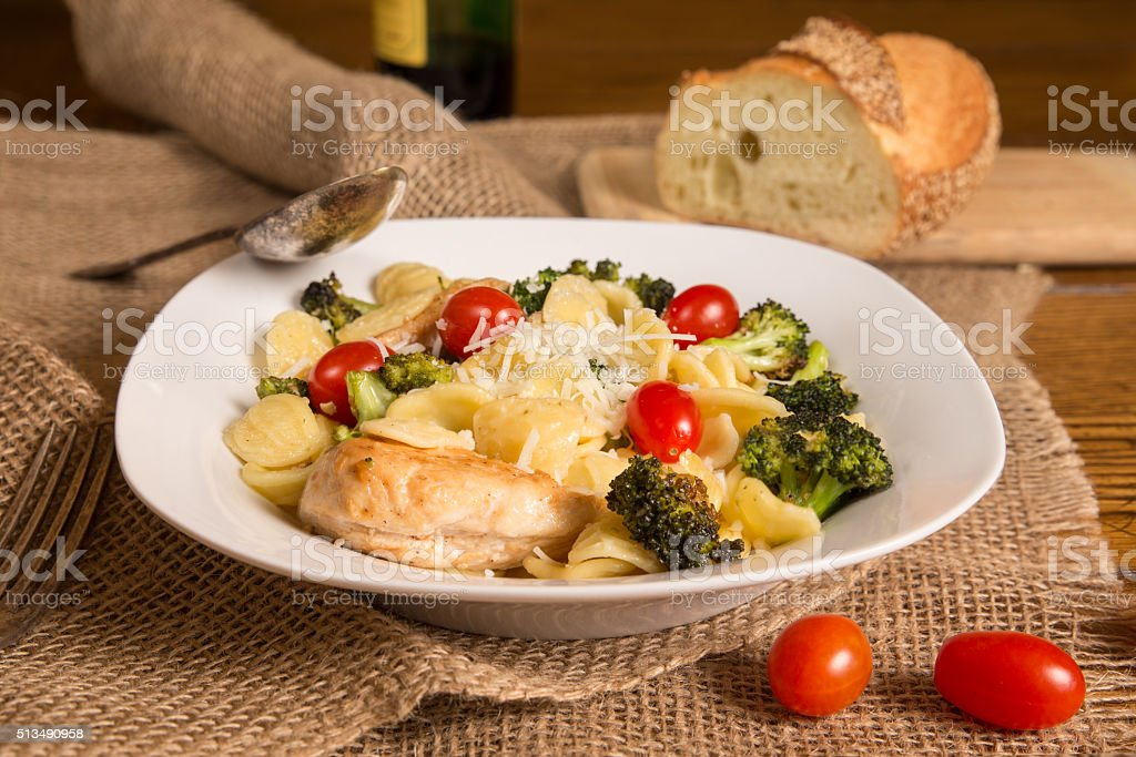 Italian Pasta Meal stock photo