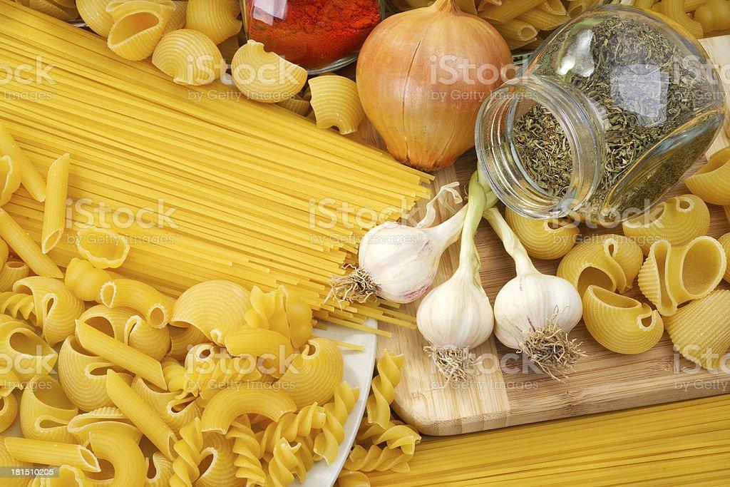 italian pasta (macaroni) royalty-free stock photo