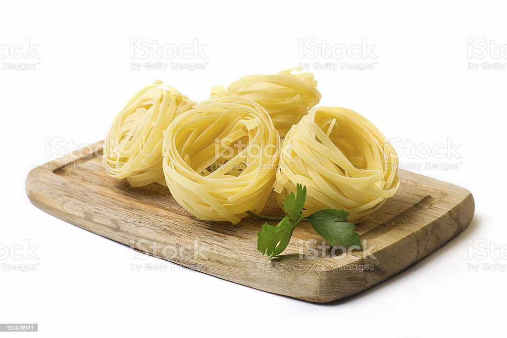 Italian pasta tagliatelle royalty-free stock photo