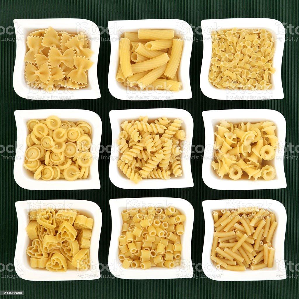 Italian Pasta Varieties stock photo