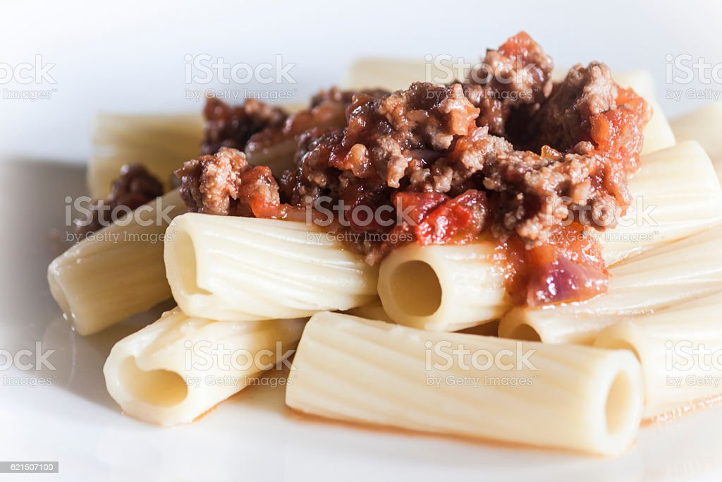 Italian pasta with ragù alla bolognese photo libre de droits