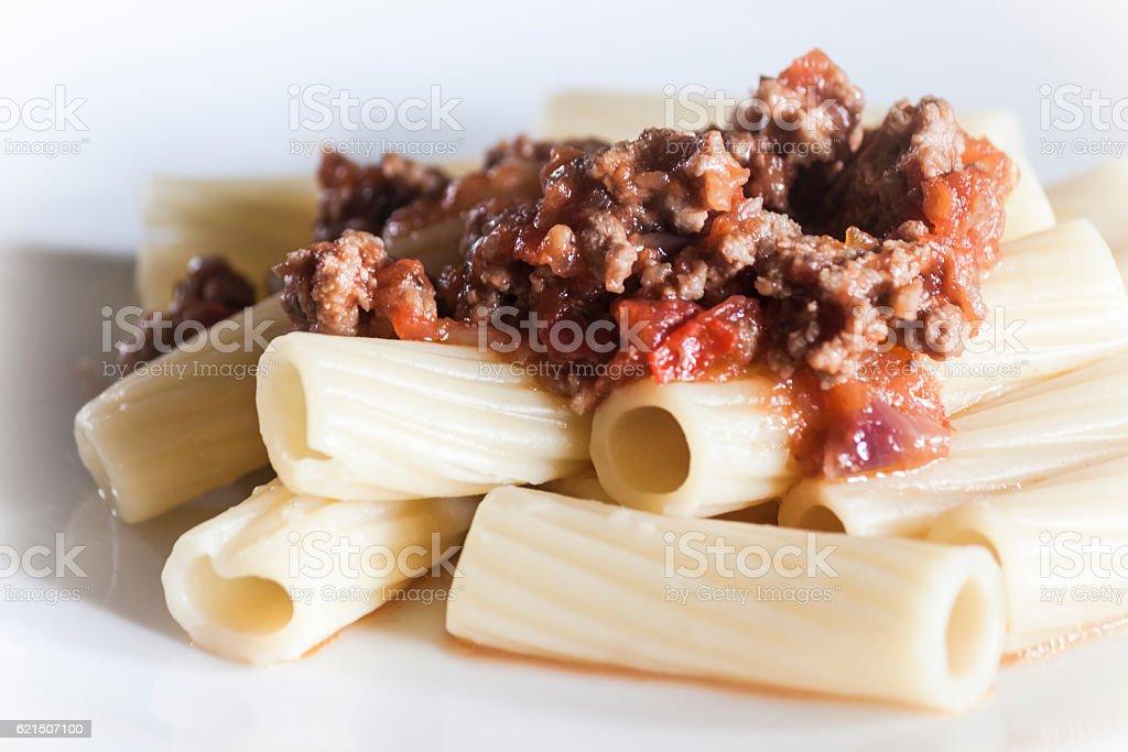 Italian pasta with ragù alla bolognese foto stock royalty-free