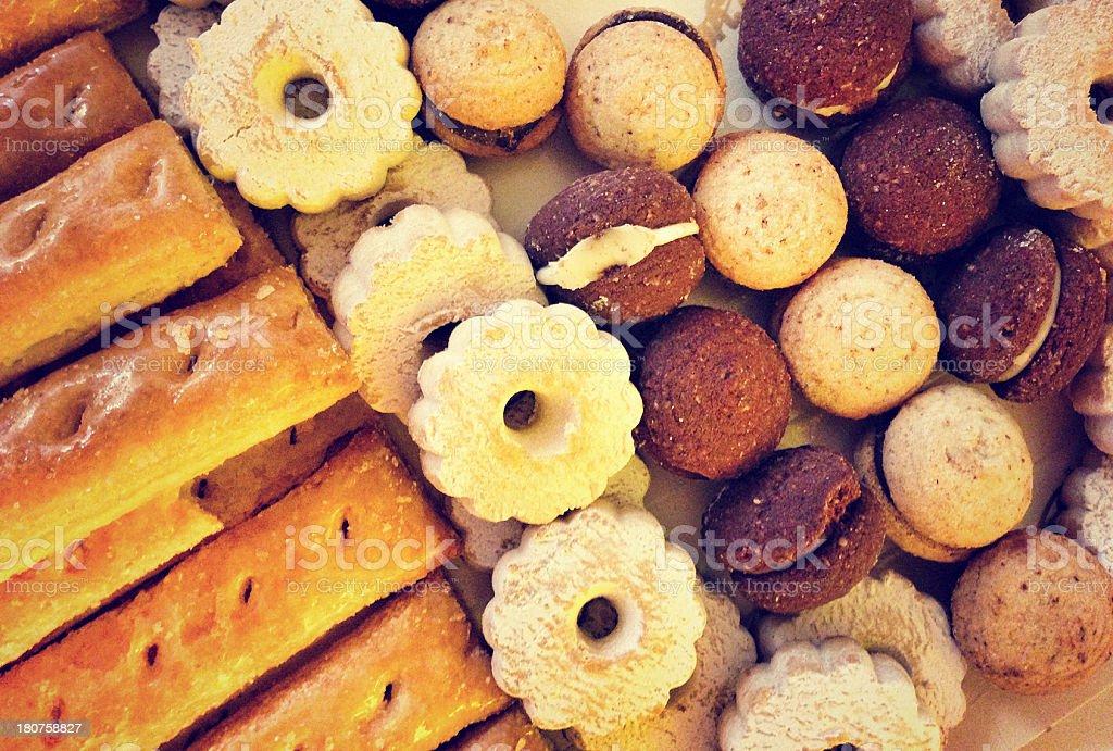 Italian pastries - Cream and choco patisserie royalty-free stock photo
