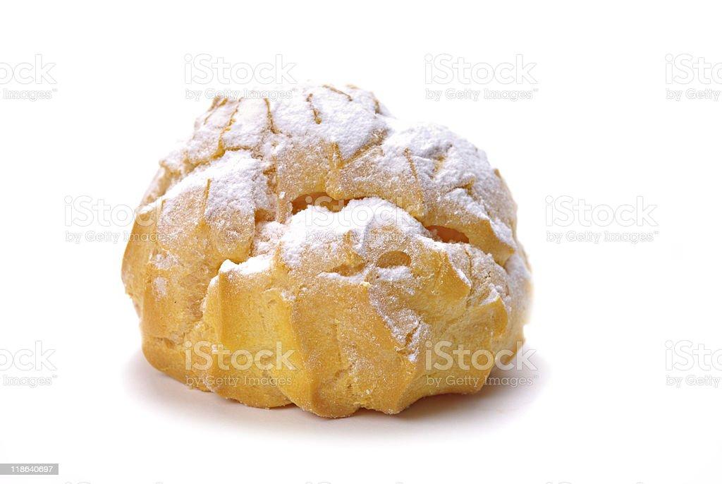 Italian Pastry with cream stock photo