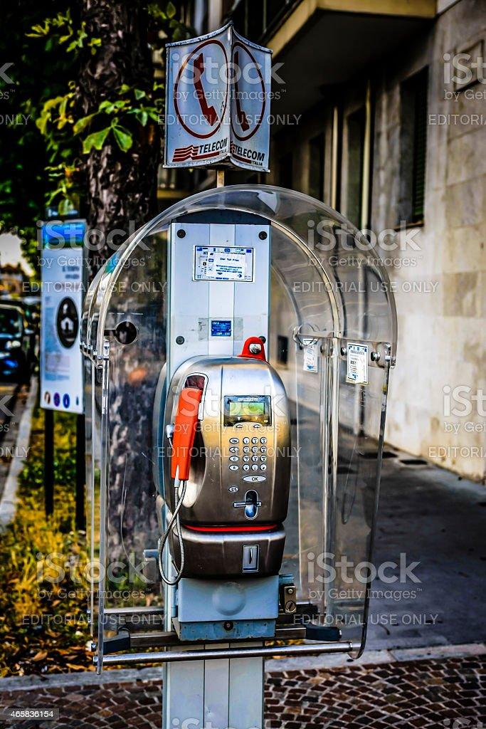 Italian Payphone stock photo