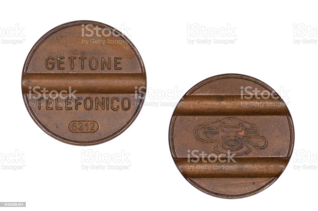 Italian phone token stock photo