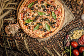 istock Italian pizza and ingridiend food baking 1008257892