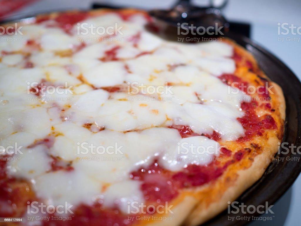 Italian pizza close up stock photo
