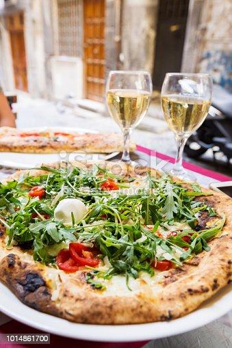 istock Italian pizza with arugula 1014861700