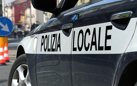 Italienische Polizei Auto Während Die Straßensperre Stockfoto und mehr Bilder von 2015